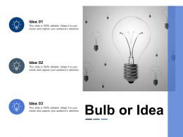 Bulb Or Idea Technology Ppt Powerpoint Presentation File Portrait