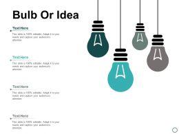 Bulb Or Idea Technology Ppt Powerpoint Presentation Inspiration Slideshow
