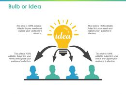 Bulb Or Idea Technology Ppt Powerpoint Presentation Layouts Clipart