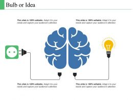 Bulb Or Idea Technology Ppt Powerpoint Presentation Layouts Designs Download