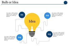 Bulb Or Idea Technology Ppt Powerpoint Presentation Model Grid