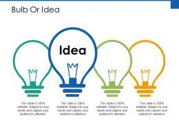 Bulb Or Idea Technology Ppt Powerpoint Presentation Outline