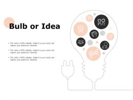 Bulb Or Idea Technology Ppt Powerpoint Presentation Outline Backgrounds