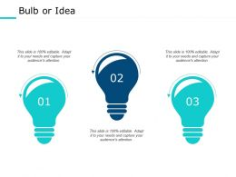 Bulb Or Idea Technology Ppt Powerpoint Presentation Outline Graphics Download