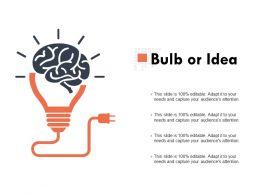 Bulb Or Idea Technology Ppt Powerpoint Presentation Outline Slides