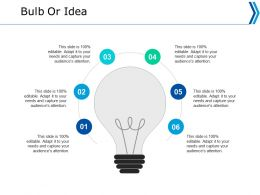 Bulb Or Idea Technology Ppt Powerpoint Presentation Portfolio Example Introduction