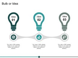 Bulb Or Idea Technology Ppt Powerpoint Presentation Summary Outfit