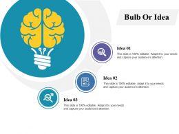 Bulb Or Idea Technology Ppt Professional Design Inspiration