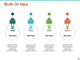 Bulb Or Idea Technology Ppt Show Infographic Template