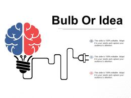 Bulb Or Idea Technology Ppt Visual Aids Background Images