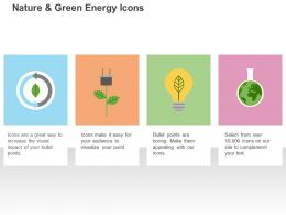 Bulb Power Plug Globe Green Energy Ppt Icons Graphics