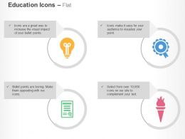 Bulb Ribbon Certificate Lamp Ppt Icons Graphics