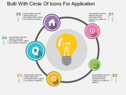 bulb_with_circle_of_icons_for_application_flat_powerpoint_design_Slide01