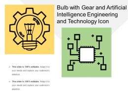 Bulb With Gear And Artificial Intelligence Engineering And Technology Icon