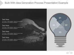 Bulb With Idea Generation Process Presentation Example