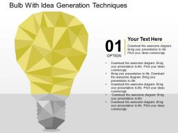 Bulb With Idea Generation Techniues Flat Powerpoint Design