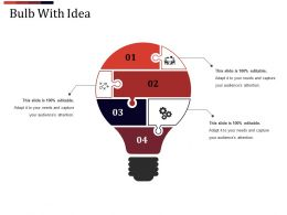 Bulb With Idea Good Ppt Example Template 2