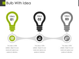 Bulb With Idea Powerpoint Layout 1