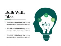 Bulb With Idea Powerpoint Presentation