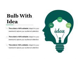Bulb With Idea Powerpoint Presentation