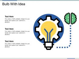 Bulb With Idea Powerpoint Slide Templates