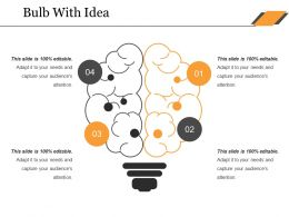 Bulb With Idea Ppt Influencers