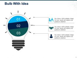 Bulb With Idea Ppt Model