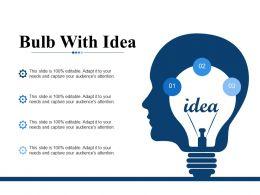 Bulb With Idea Ppt Professional Design Templates