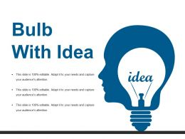 Bulb With Idea Ppt Show Slideshow