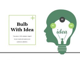 Bulb With Idea Ppt Summary Graphics Tutorials
