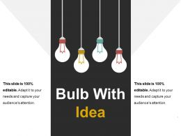Bulb With Idea Presentation Visuals