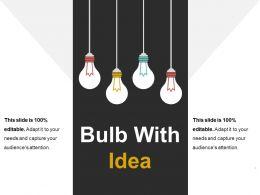 Bulb With Idea Presentation Visuals