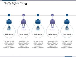 Bulb With Idea Profit Based Sales Targets Ppt Inspiration