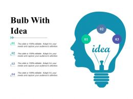 Bulb With Idea Technology F479 Ppt Powerpoint Presentation Outline Inspiration