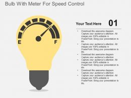 Bulb With Meter For Speed Control Flat Powerpoint Design