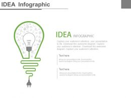 Bulb With Plug For Idea Generation Powerpoint Slides