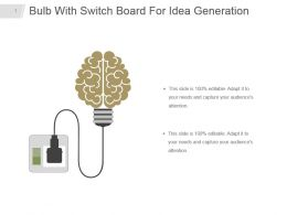 Bulb With Switch Board For Idea Generation Powerpoint Diagram