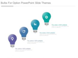 Bulbs For Option Powerpoint Slide Themes
