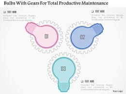 Bulbs With Gears For Total Productive Maintenance Flat Powerpoint Design