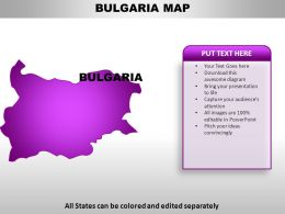 Bulgaria Country Powerpoint Maps