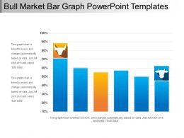 Bull Market Bar Graph Powerpoint Templates