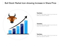 Bull Stock Market Icon Showing Increase In Share Price