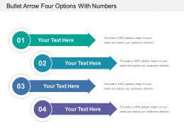 Bullet Arrow Four Options With Numbers
