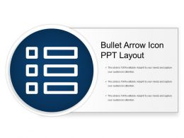 Bullet Arrow Icon Ppt Layout