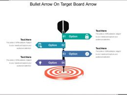Bullet Arrow On Target Board Arrow