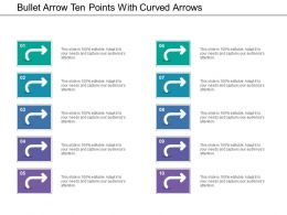 Bullet Arrow Ten Points With Curved Arrows
