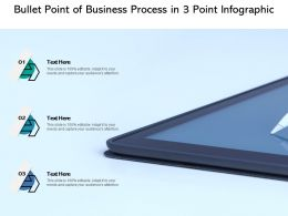 Bullet Point Of Business Process In 3 Point Infographic