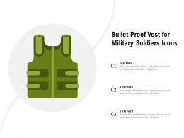 Bullet Proof Vest For Military Soldiers Icons