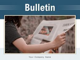 Bulletin Statement Entrepreneur Organization Business Illustrating