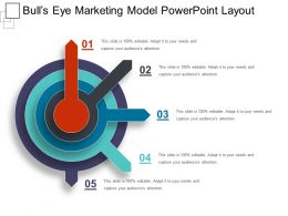 Bulls Eye Marketing Model Powerpoint Layout